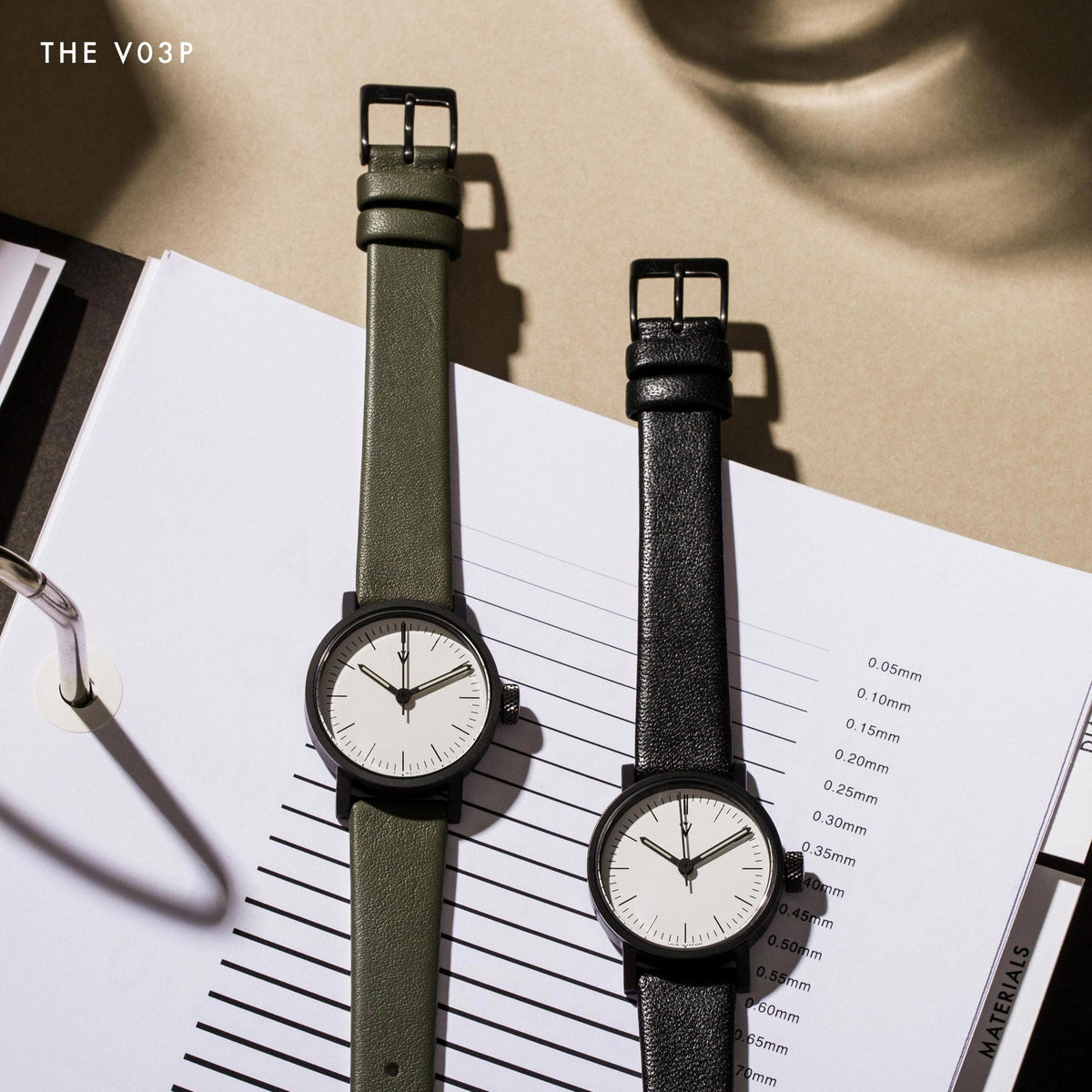 The Petite Ladies watch also known as the V03P has a 28mm case and comes in black, copper, and gold.