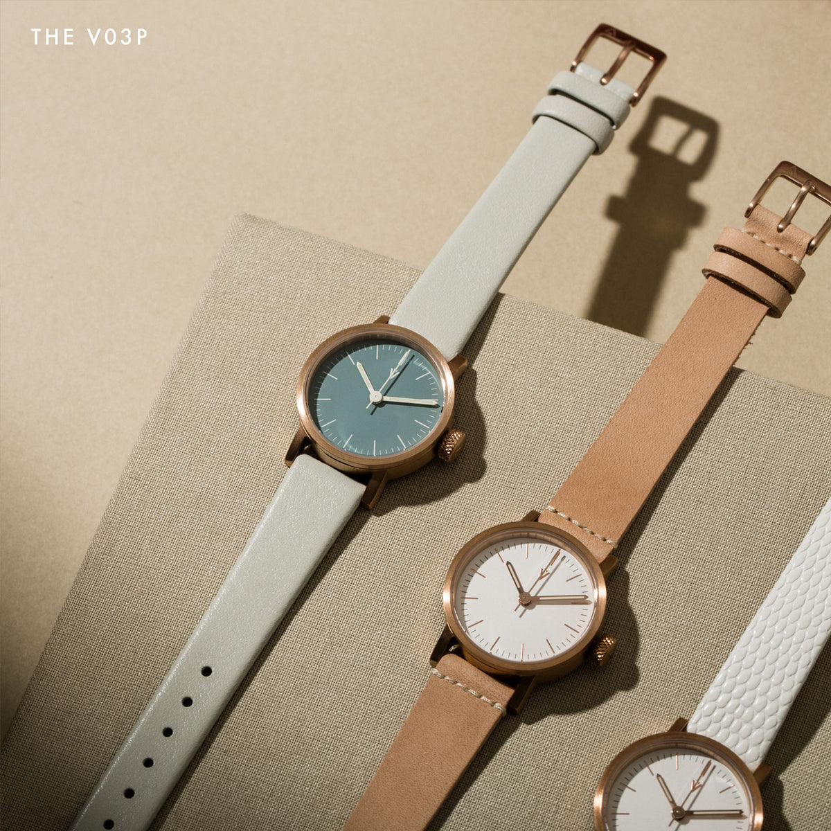 Three copper V03Ps by VOID Watches