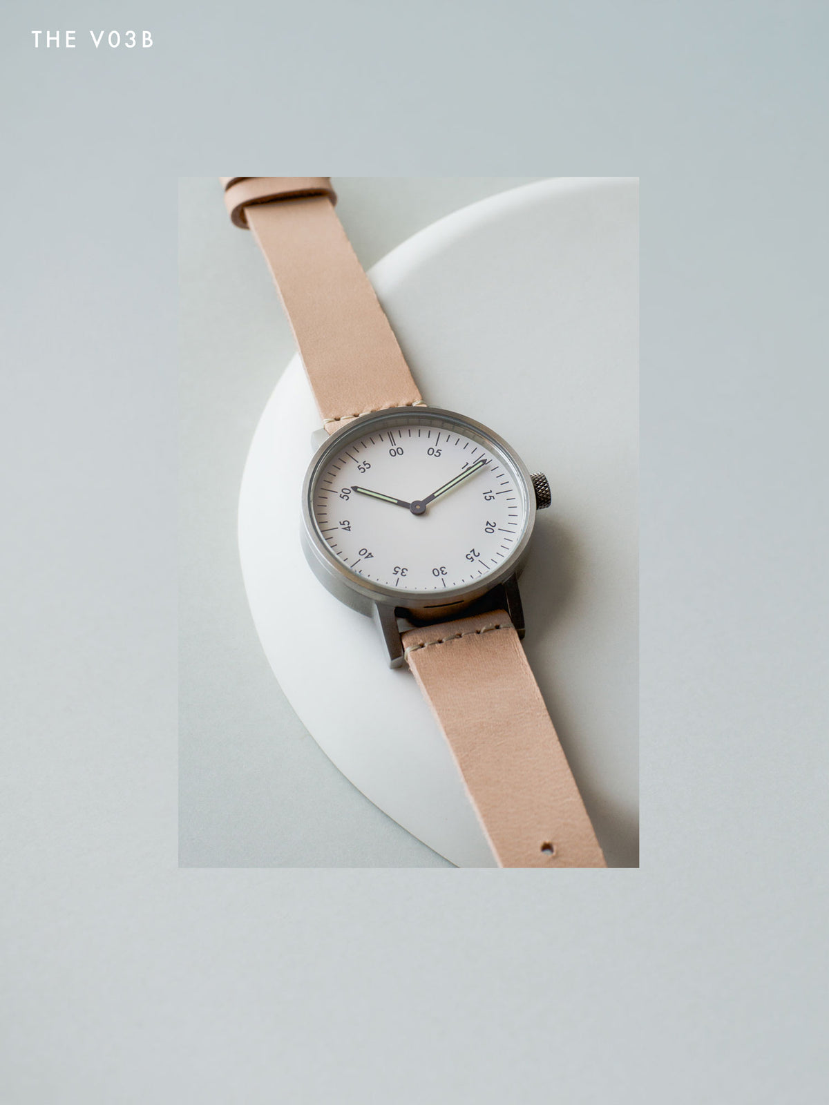 The V03B-BR/TN/WH by VOID Watches with a Swedish vegetable tanned leather strap.