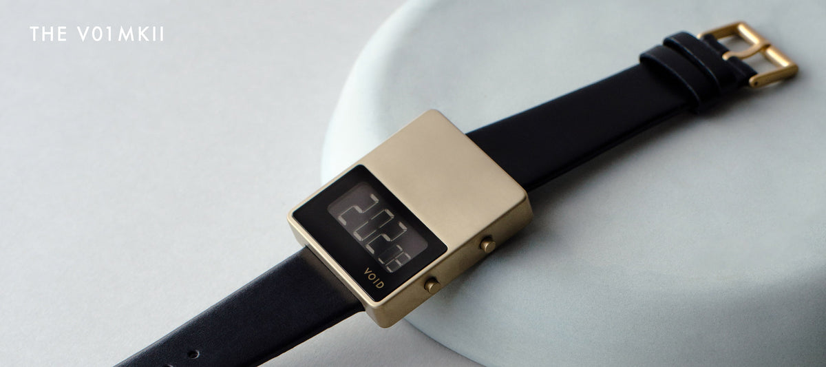 The square and digital V01MKII by VOID Watches.