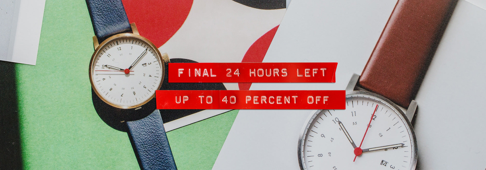 VOID Watches Black Friday Sale 24 Hour Left