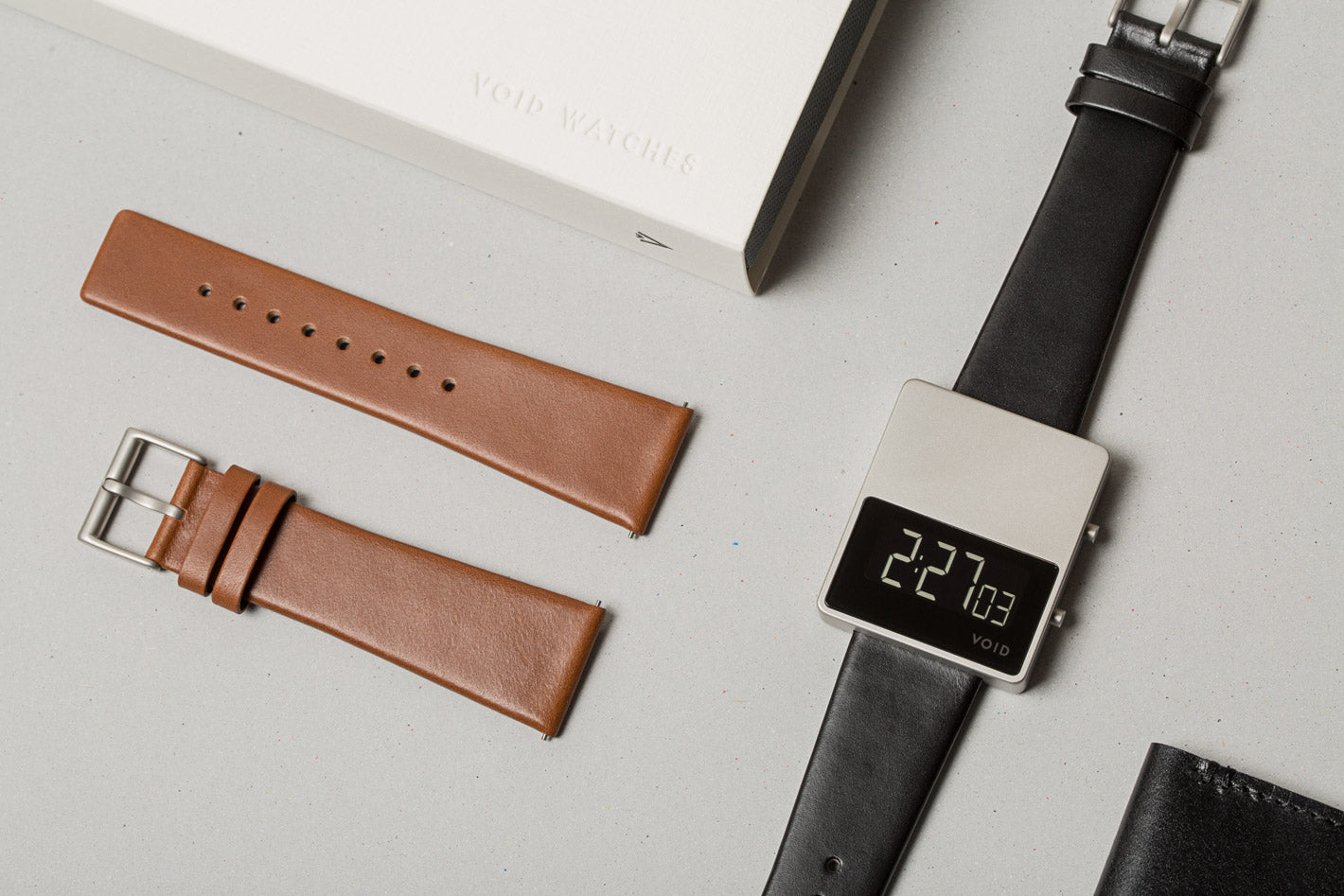 The V01MKII-SI/BL Gift Set from VOID Watches, designed by David Ericsson.