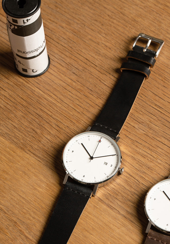 The PKG01-SI/HB/WH from VOID Watches, designed by Patrick Kim-Gustafson.