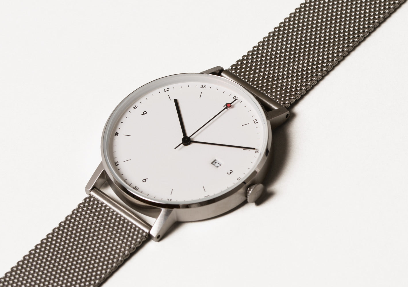 The PKG01-SI/MR/WH from VOID Watches, designed by Patrick Kim-Gustafson.