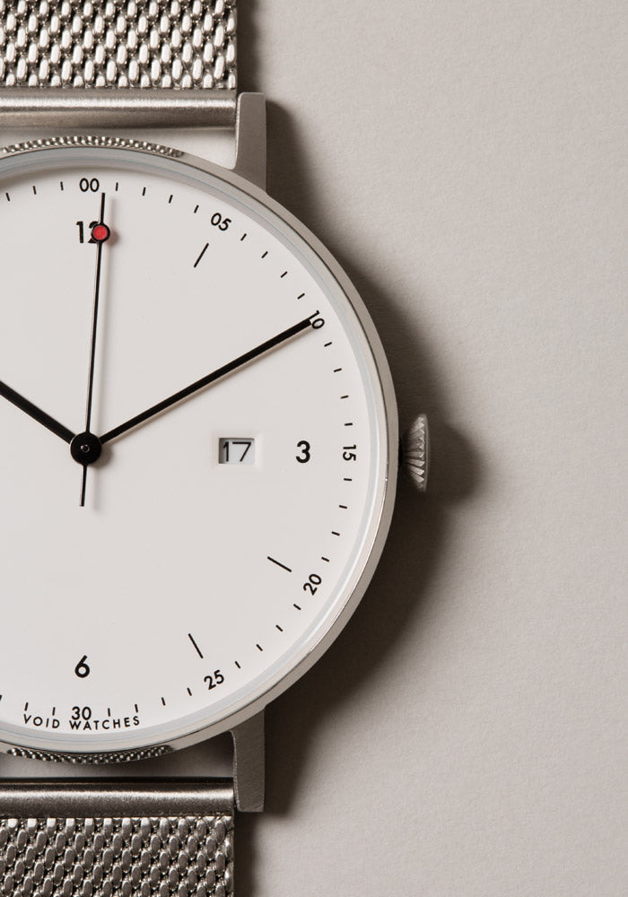 The PKG01-GO/BL/WH from VOID Watches, designed by Patrick Kim-Gustafson.