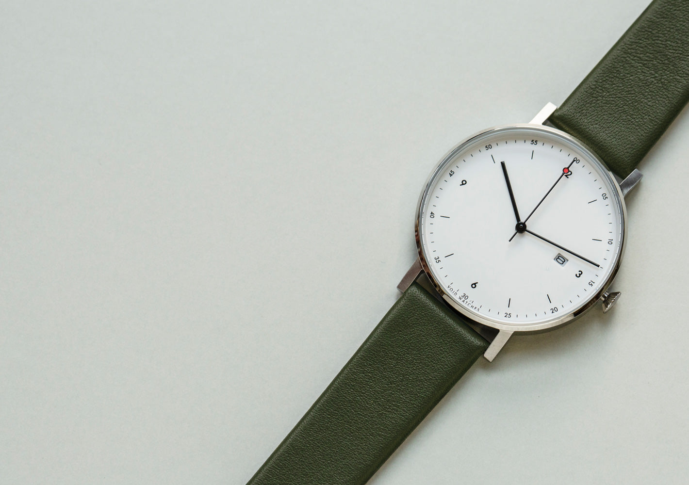The PKG01-SI/OL/WH from VOID Watches, designed by Patrick Kim-Gustafson.
