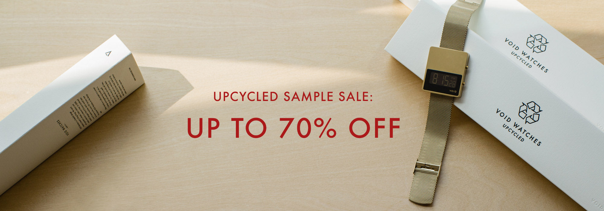VOID Watches Upcyled Sample Sale