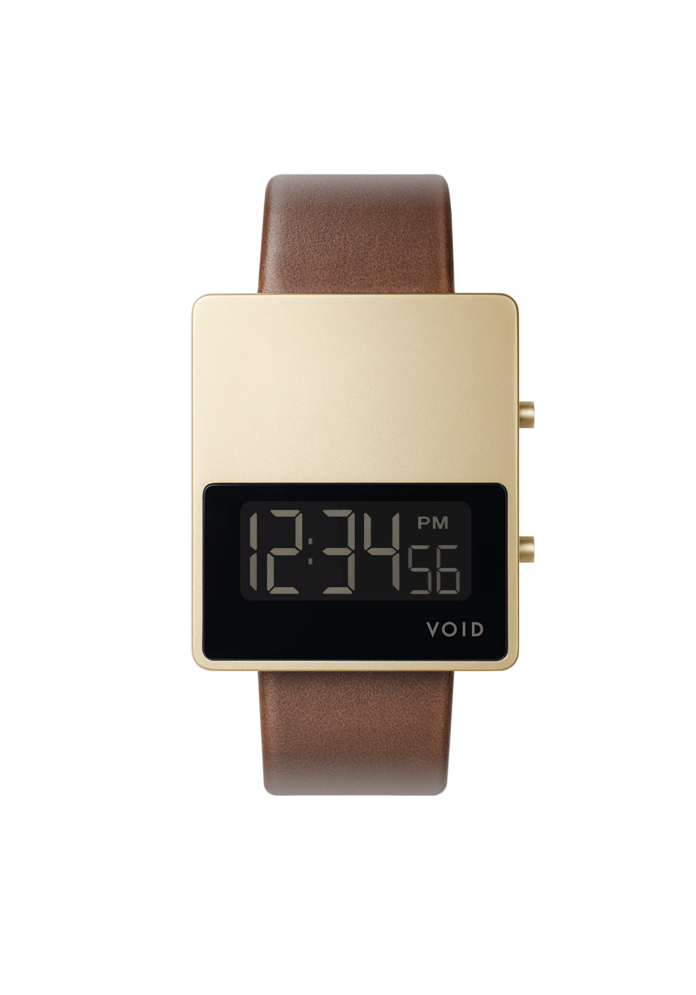 The V01MKII-GO/LB by VOID Watches. Square horizon digital watch.