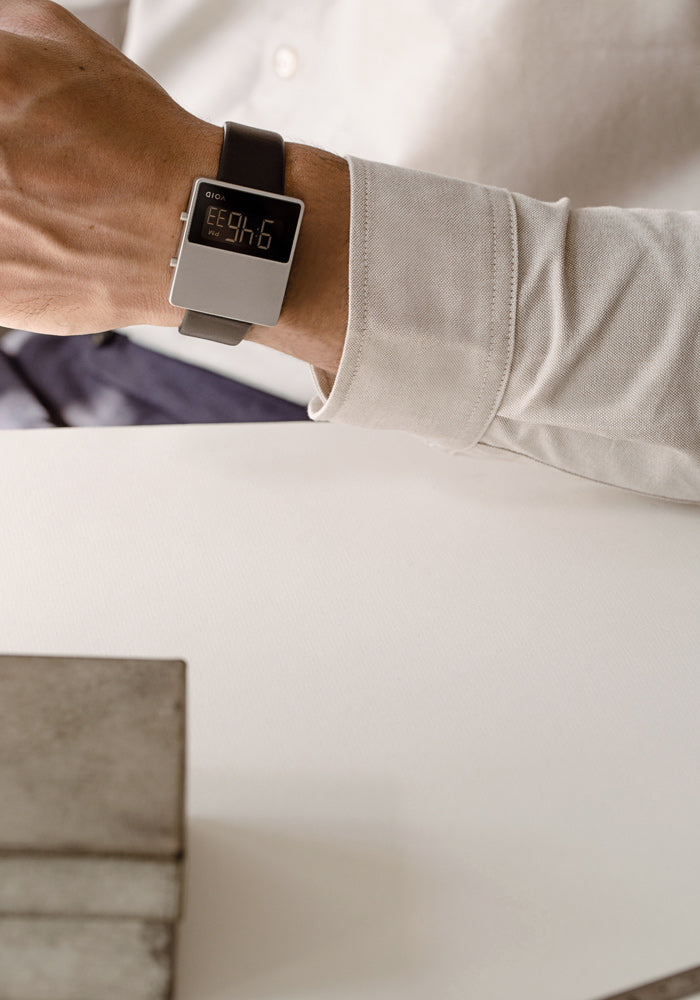 VOID Watches's iconic square watch, the V01MKII-SI/BL by Swedish Designer David Ericsson.