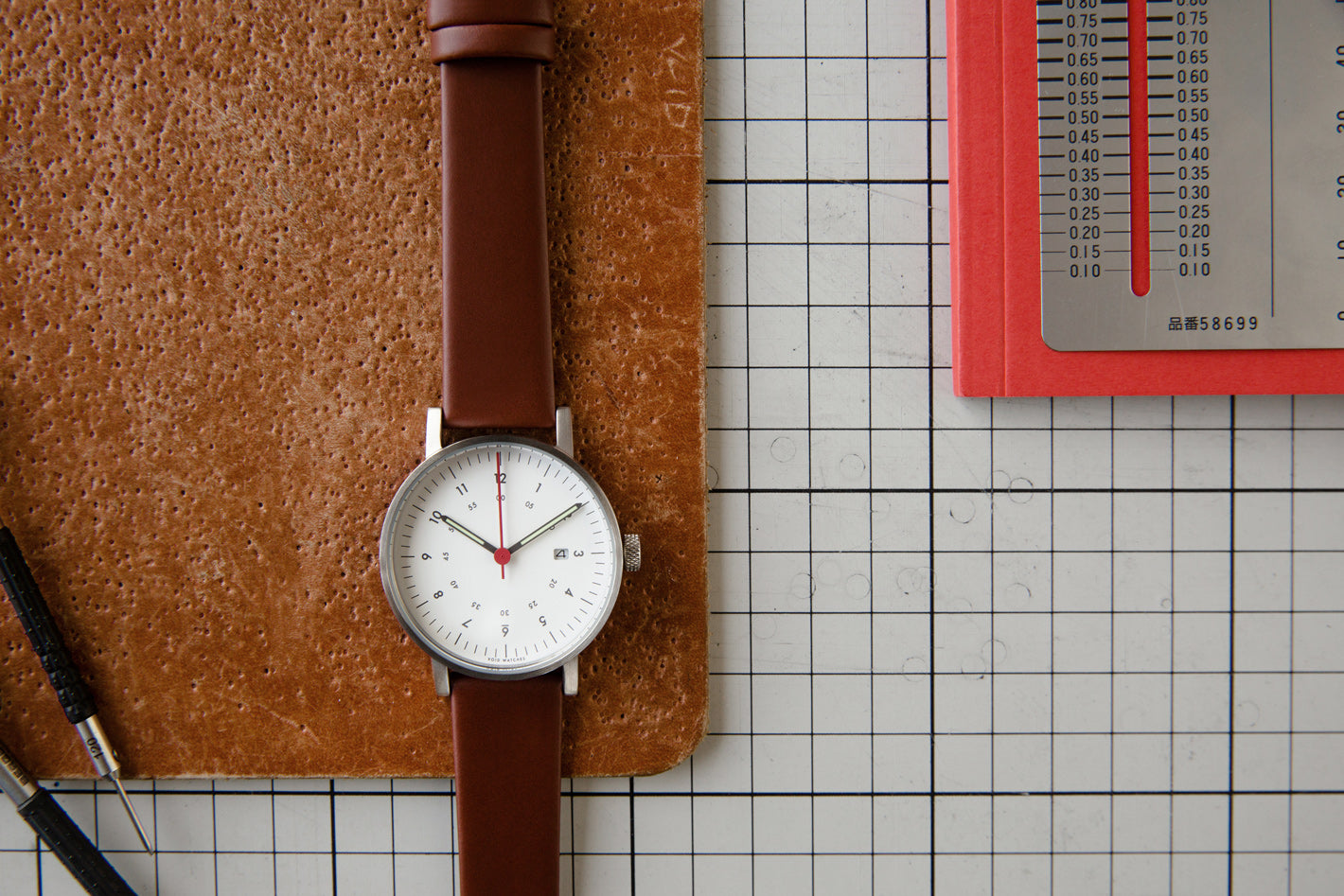 The V03D-BR/LB/WH from VOID Watches, designed by David Ericsson.