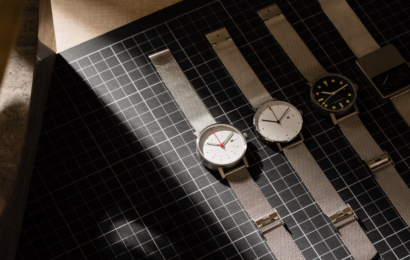 The V03D-BR/MR//WH from VOID Watches, designed by David Ericsson.