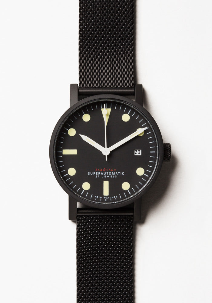 The V03M-BL/MB from VOID Watches, designed by David Ericsson.
