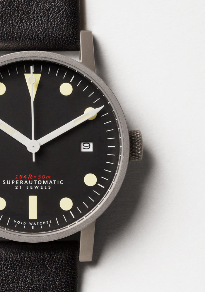 The V03M-SI/BL from VOID Watches, designed by David Ericsson.