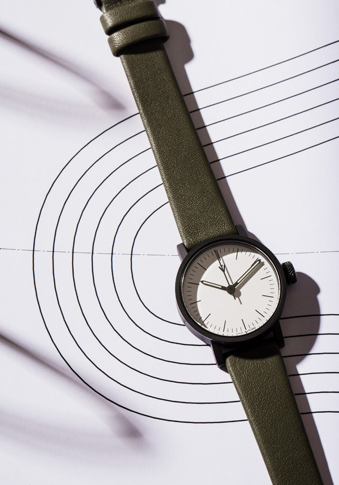 The V03P-BL/OL/WH from VOID Watches, designed by David Ericsson.