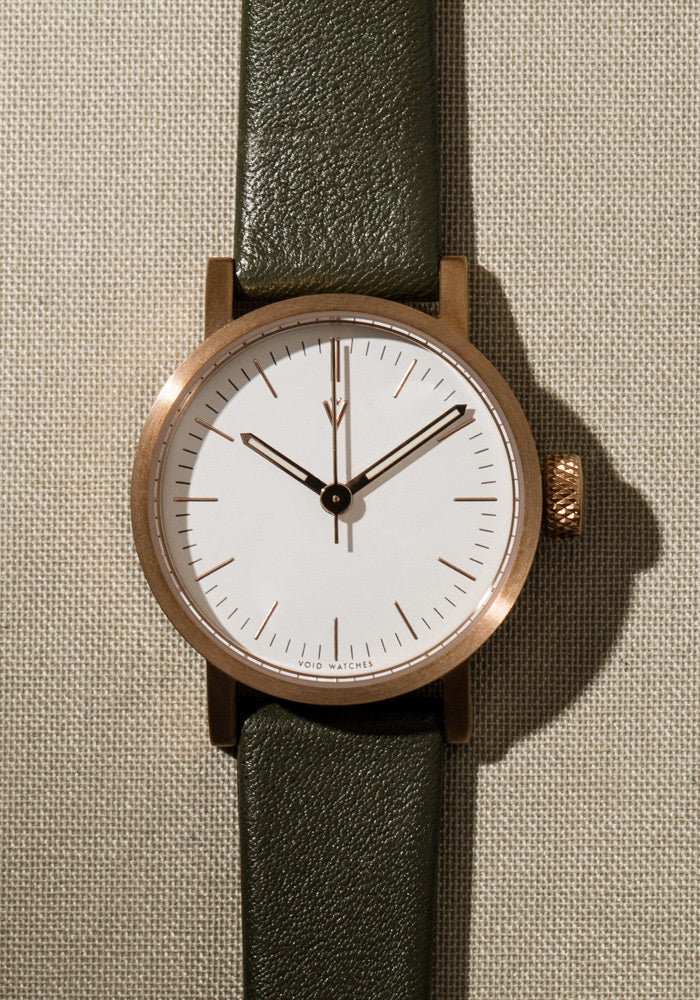 The V03P-CO/OL/WH from VOID Watches, designed by David Ericsson.