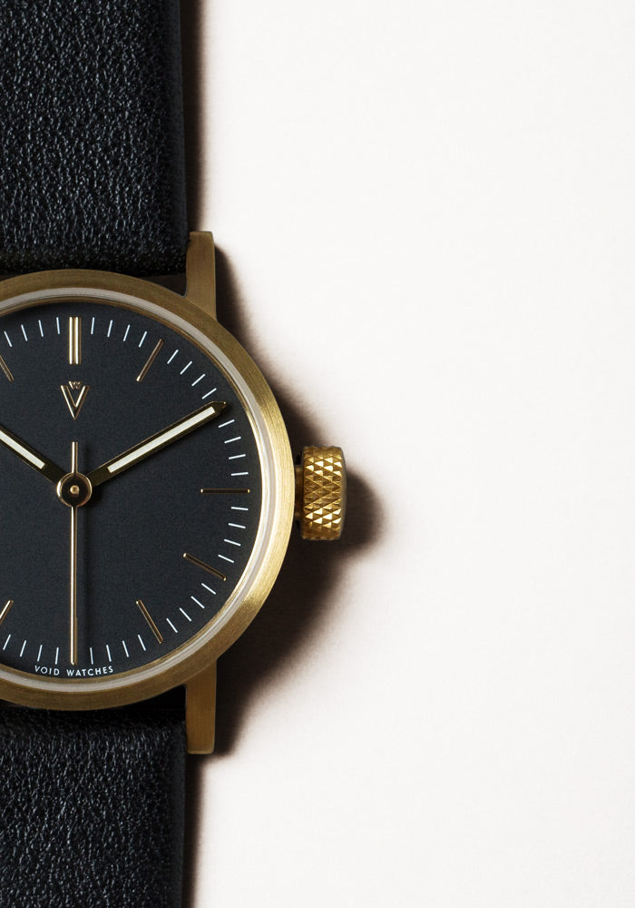 The V03P-GO/BL/BL from VOID Watches, designed by David Ericsson.