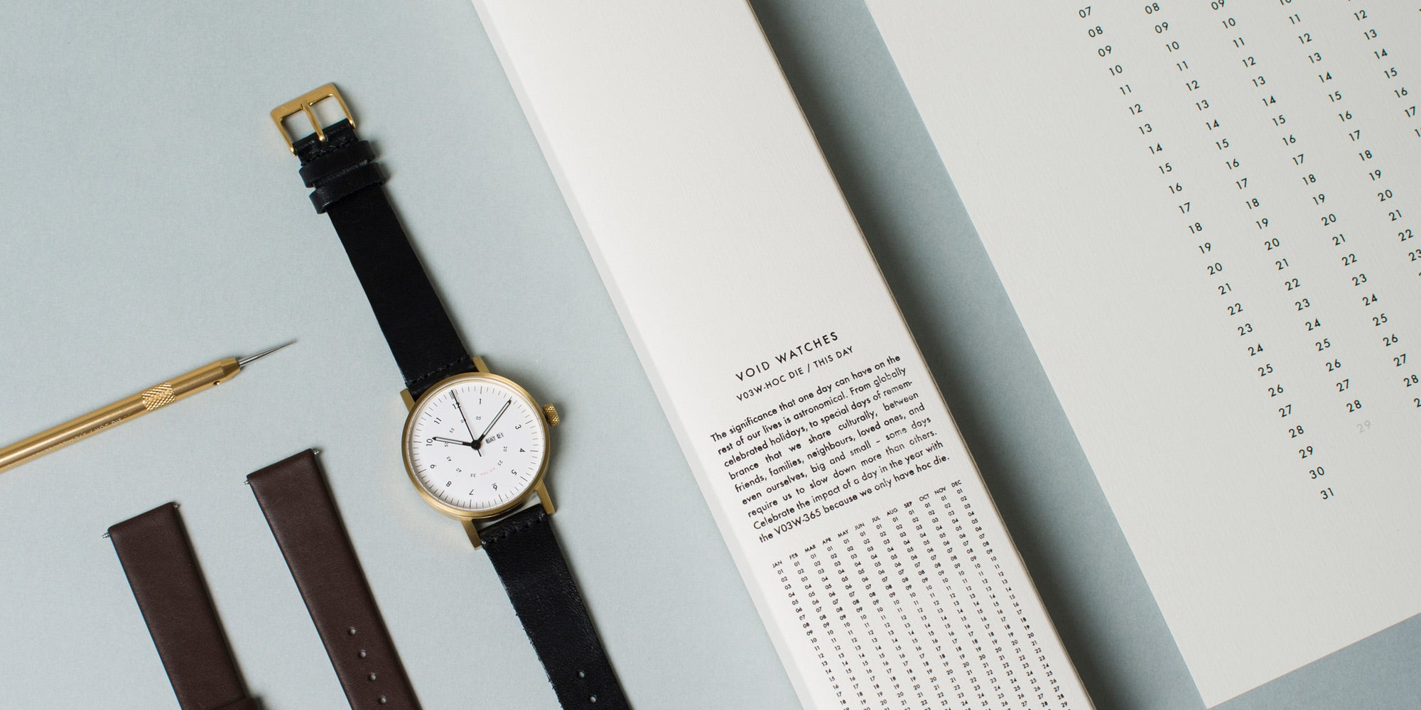 The V03W-365 Calendar-Watch Set