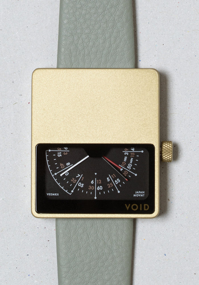 The V02MKII-GO/SA from VOID Watches, designed by David Ericsson.