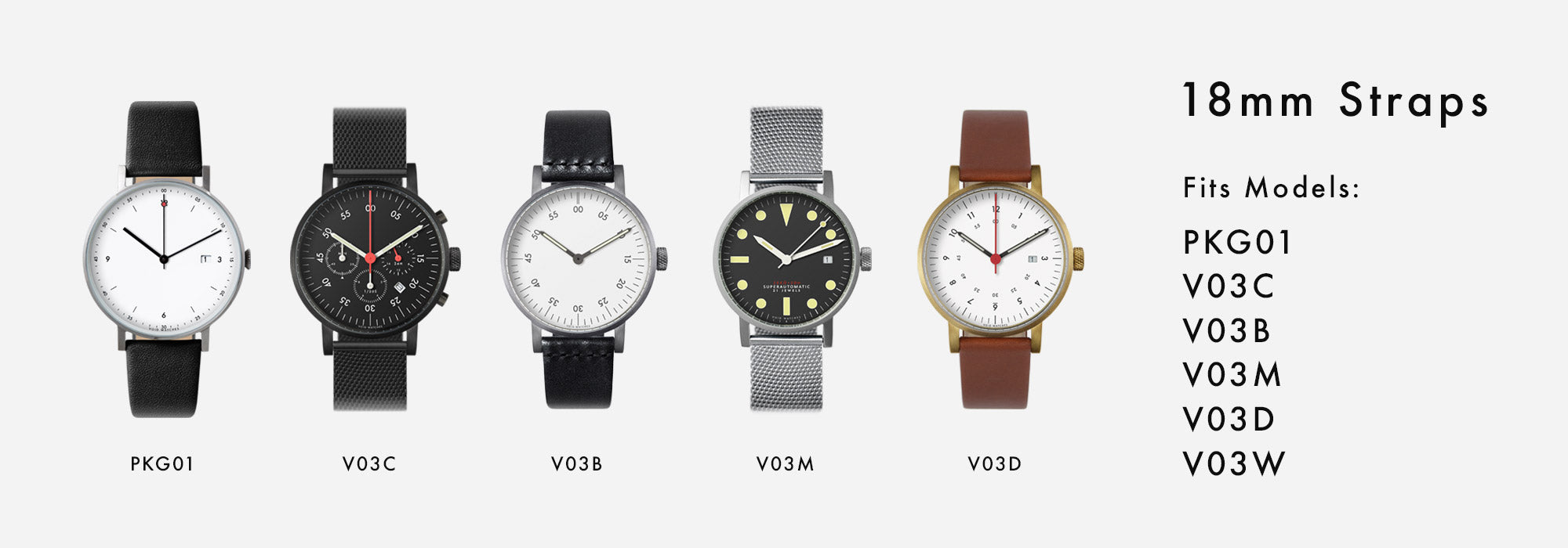 VOID Watches - 18mm Straps