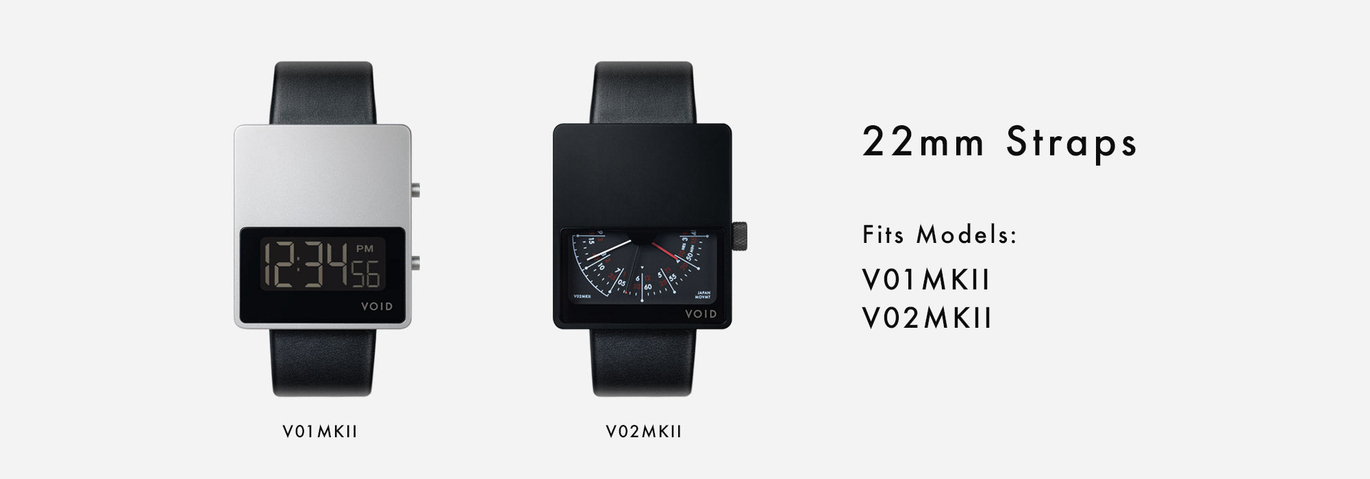 VOID Watches 22mm Straps - Fits the V01MKII and V02MKII