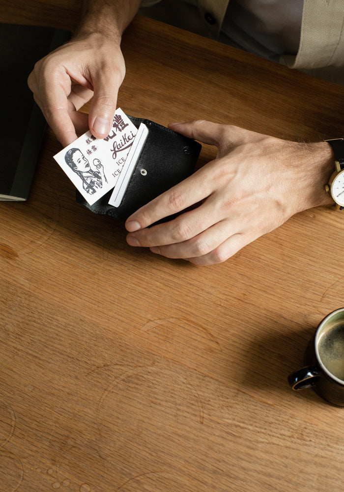 The Black Nimrodian Bi-Fold Card Case from VOID Watches, designed by David Ericsson.