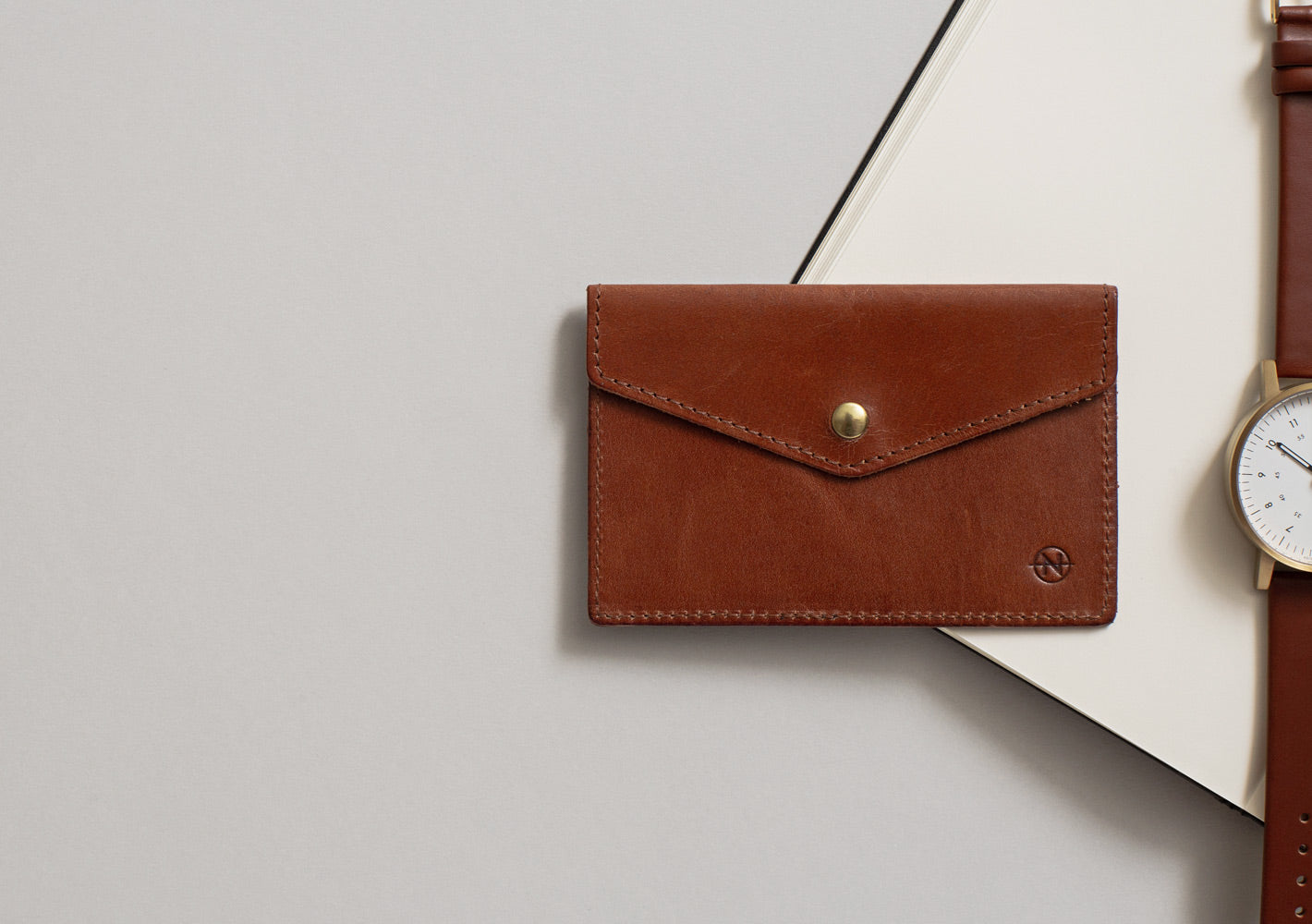 The Cognac Nimrodian Card Case from VOID Watches, designed by David Ericsson.
