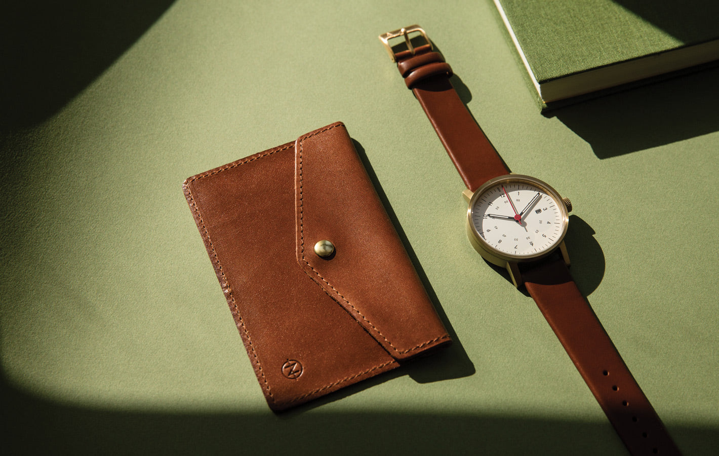 Natural tanned leather card case by VOID Watches sister brand Nimrodian