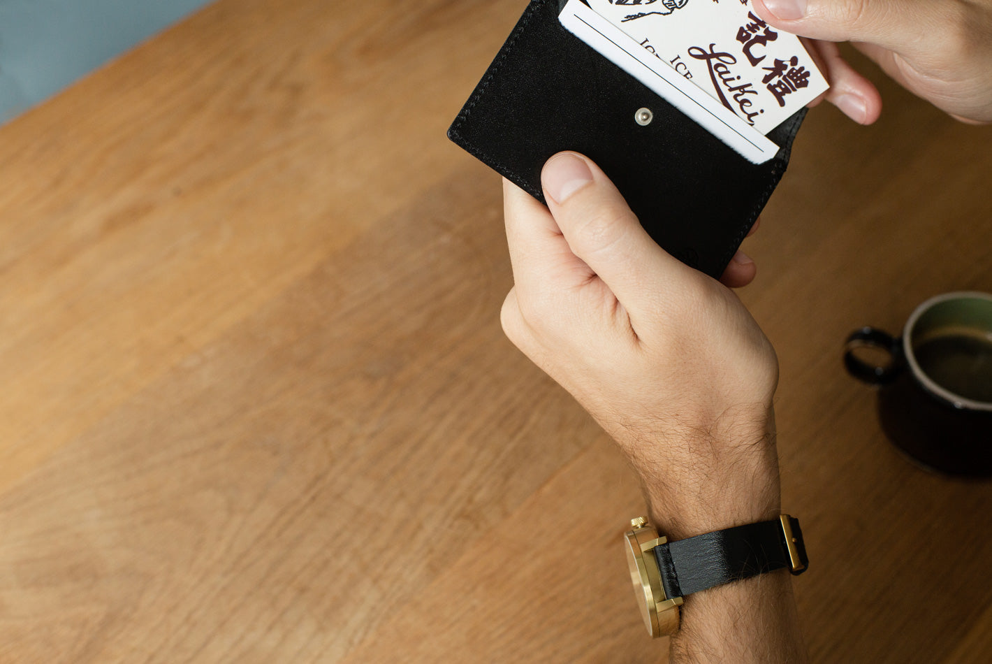 The Black Nimrodian Card Case from VOID Watches, designed by David Ericsson.