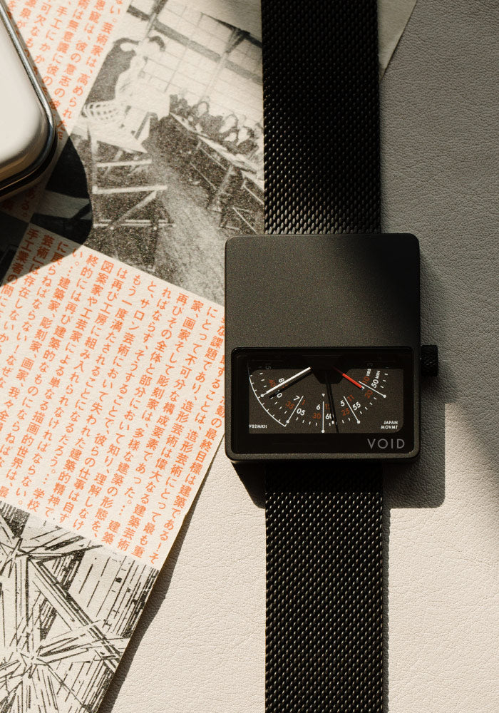 The V02MKII-BL/MB from VOID Watches, designed by David Ericsson.