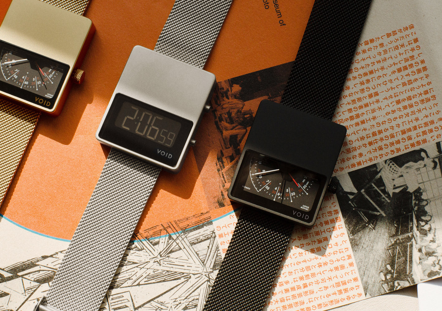 The V02MKII-GO/MG from VOID Watches, designed by David Ericsson.