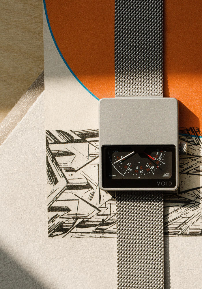 The V02MKII-SI/MR from VOID Watches, designed by David Ericsson.