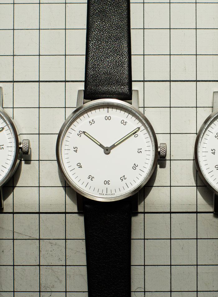 The V03B-BR/BB/WH from VOID Watches, designed by David Ericsson.