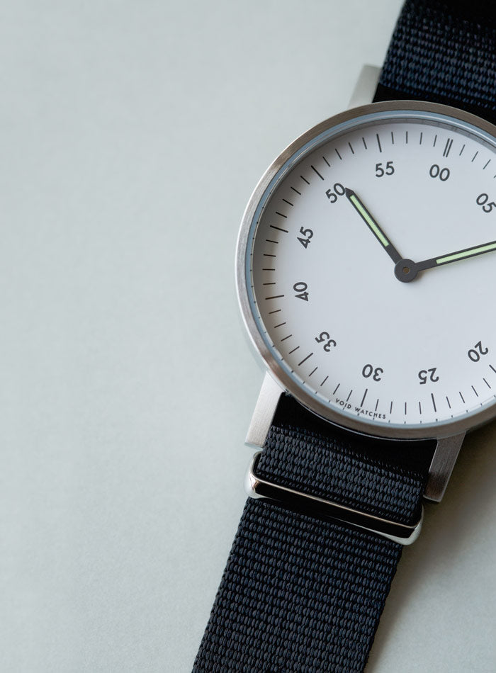 The V03B-BR/BL/WH from VOID Watches, designed by David Ericsson.