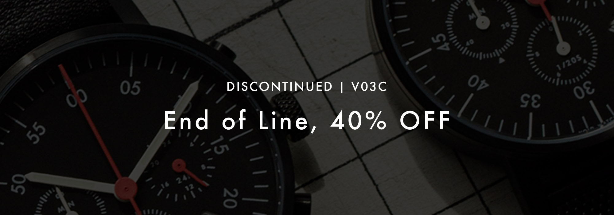 VOID Watches End of Line Sale - V03C Chronograph