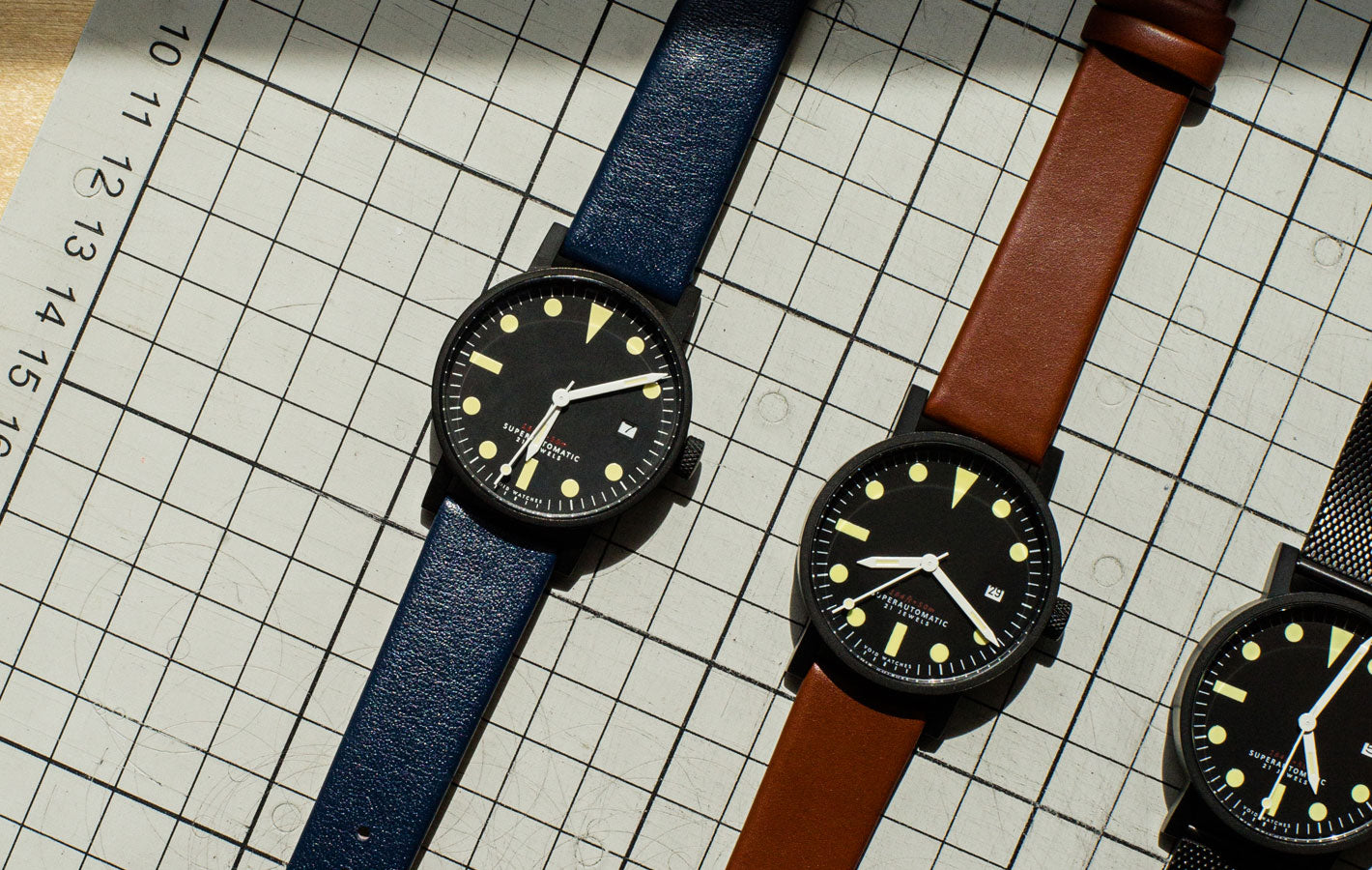 The V03M-BL/RB and V03M-BL/LB from VOID Watches, designed by David Ericsson.