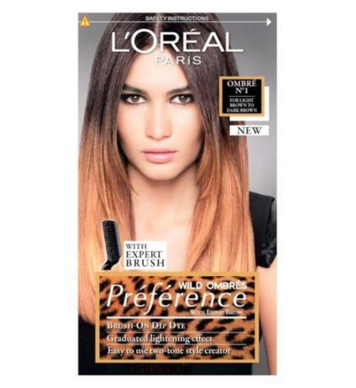 L'Oreal Paris Preference Wild Ombres No1 Hair Dye for Dark Brown Hair