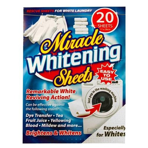 Miracle White Clothes Booster Pack 20 Sheets - FabFinds