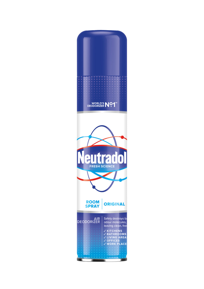 Neutradol Room Spray Odour Destroyer Air Freshener Original 300ml - FabFinds