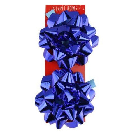 Christmas Giant Foil Gift Bows 2 Pack - FabFinds