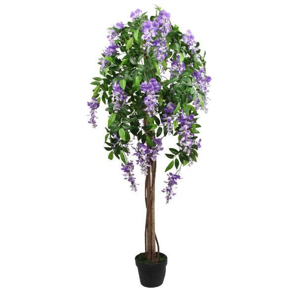 Artificial Purple Wysteria Tree 152cm (5ft) - FabFinds