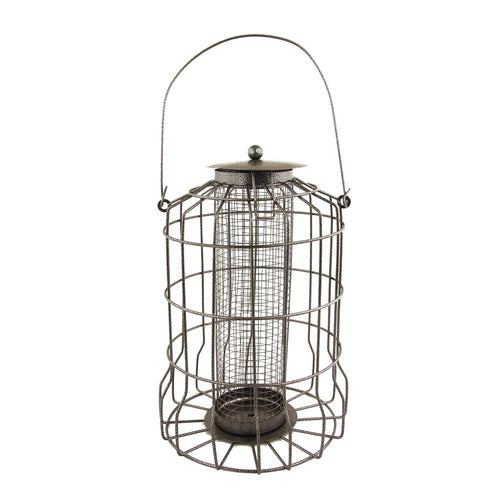 Metal Wild Bird Caged Squirrel Proof Nut Feeder