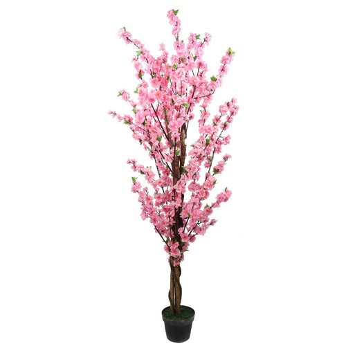 Artificial Peach Blossom Potted Tree 160cm