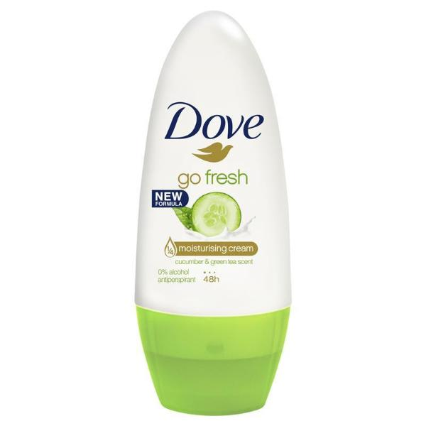Dove Go Fresh Cucumber Roll-On Antiperspirant Deodorant 50ml - FabFinds