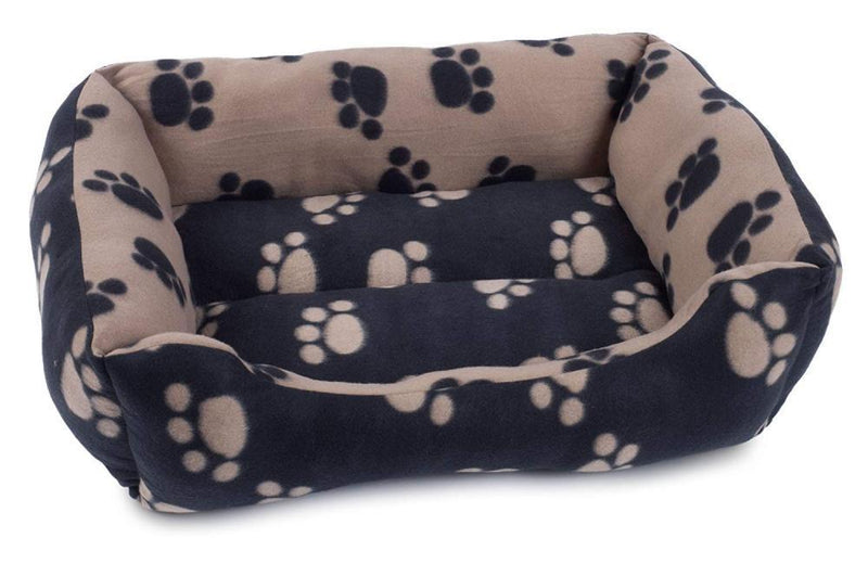 Petface Archies Square Dog Bed Small - Black and Beige - FabFinds