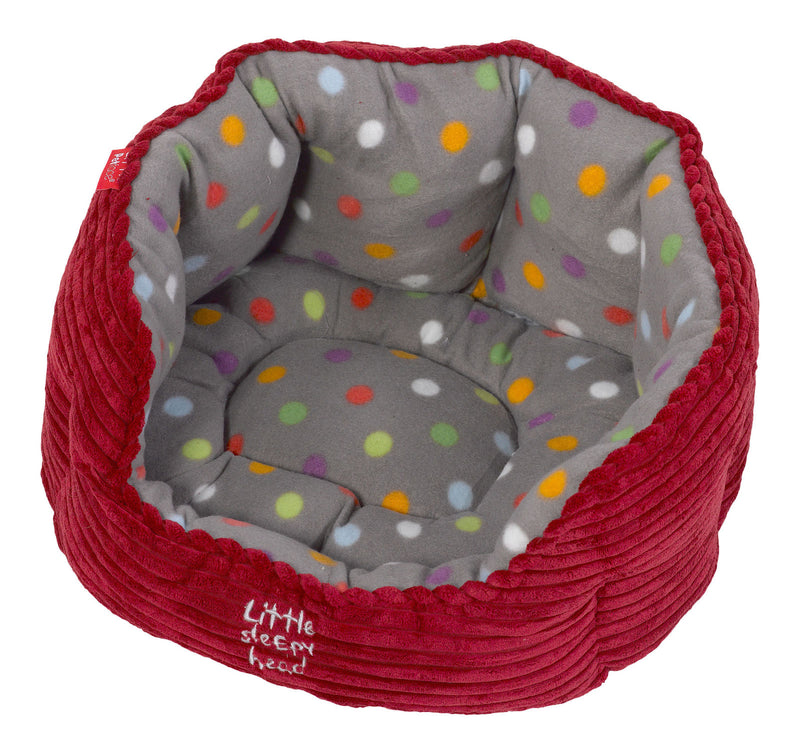 Petface Oval Red Cord Puppy or Kitten Bed - FabFinds