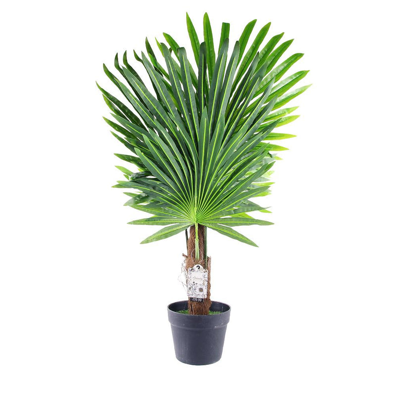 Artificial Fan Palm Tree Indoor Outdoor - FabFinds