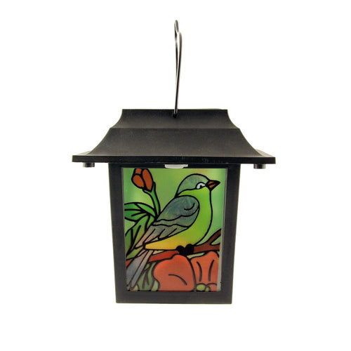 Stained Glass 'Beauty of Nature' Lantern Solar Lights