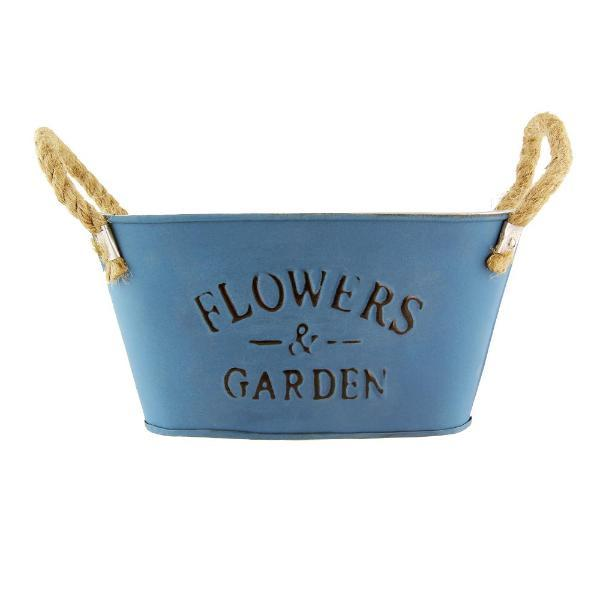 Vintage Tin Garden Indoor Planters Flower Pot - FabFinds