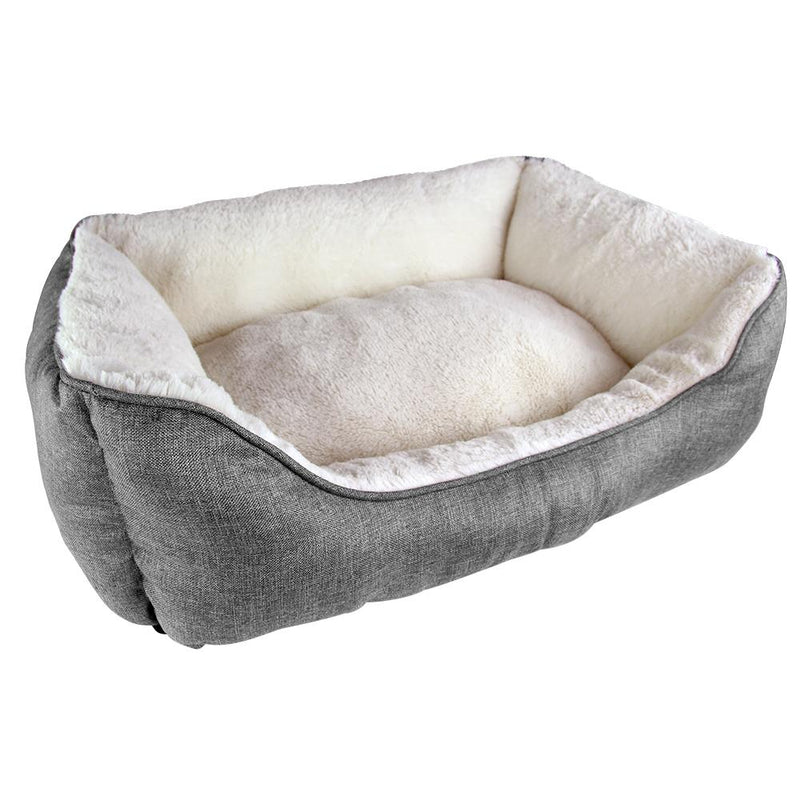 Square Linen Pet Dog Bed Medium - FabFinds