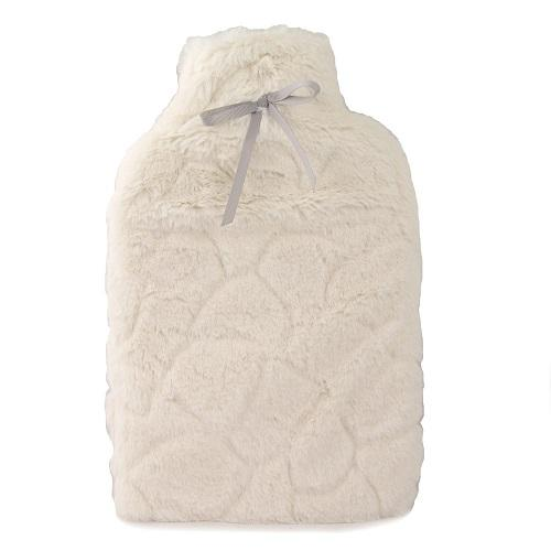 Avery Hot Water Bottle & Faux Fur Cream Cover
